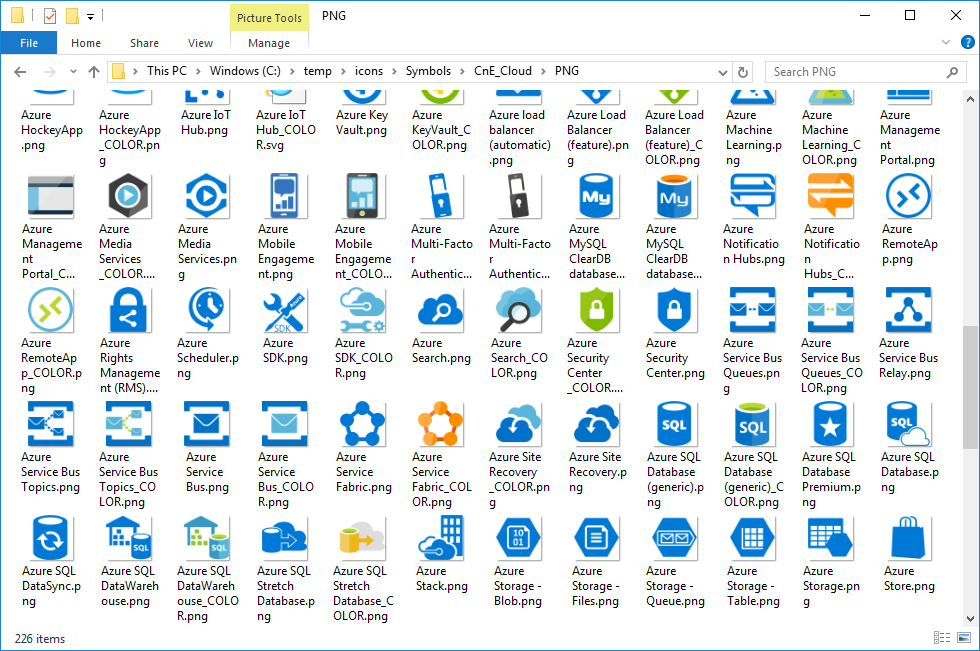 Microsoft Azure Icon Set Download – Visio stencil